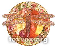 Hot Celtic Dragonfly